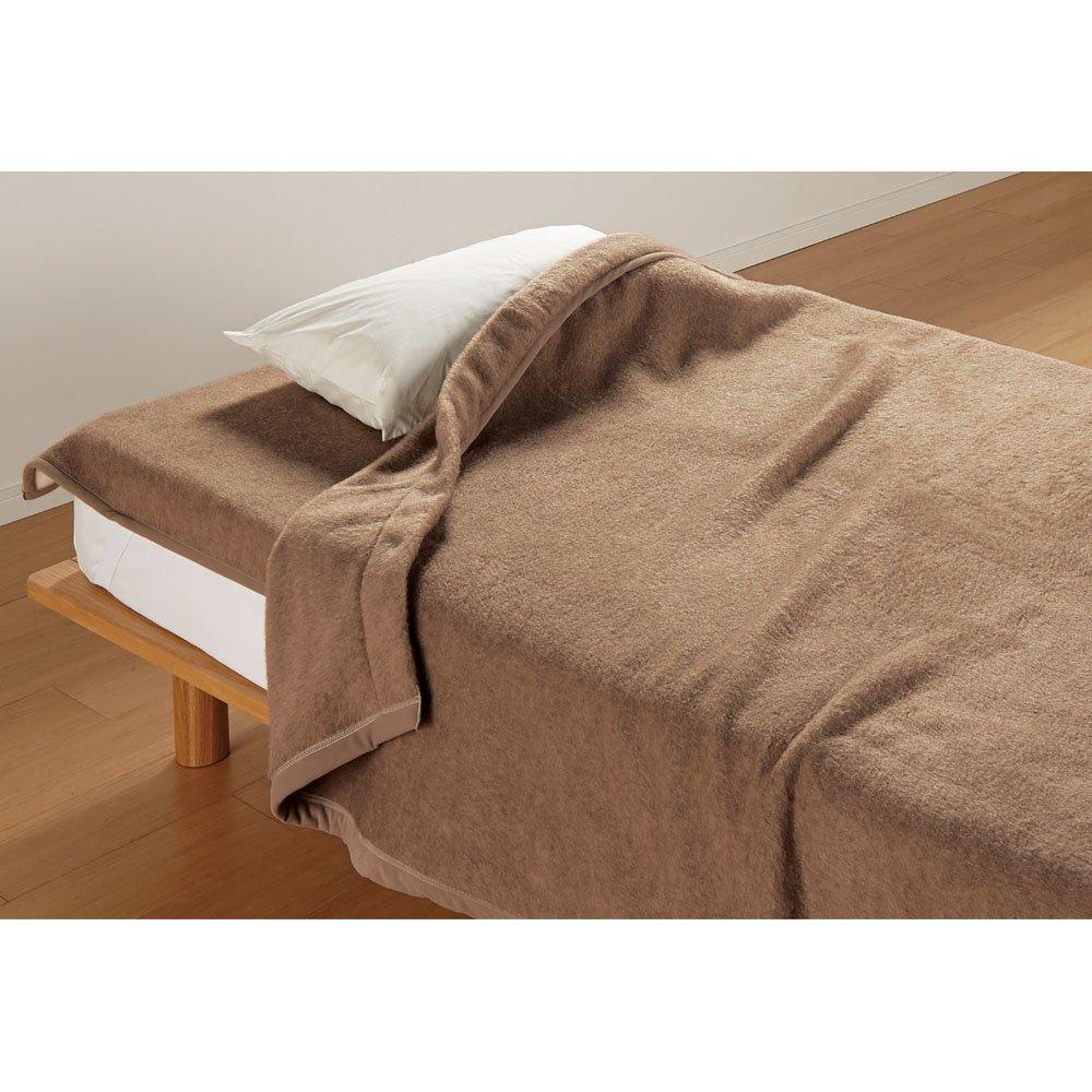 お得な掛け敷きセット ダブル(洗えるブラウンカシミヤ100%毛布) 624012 B07HY5767W
