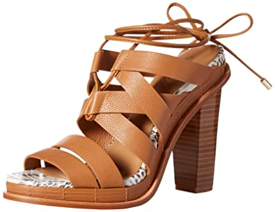 da462031b Calvin Klein Women s Panelope Dress Sandal Almond Tan 8.5 ...