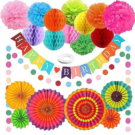 Rainbow Paper Decoraciones para fiestas Artículos de ...