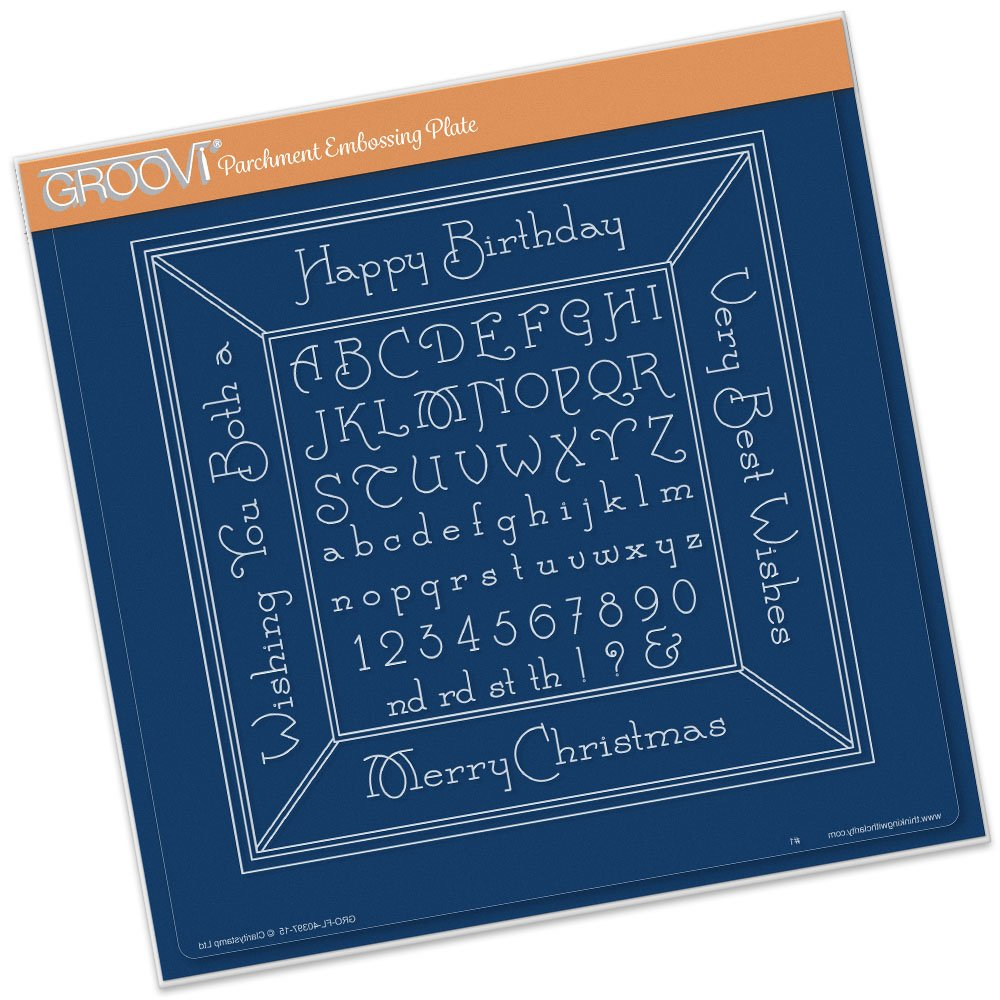 Groovi A4 Square Plate - Alphabet Picture Frame Claritystamp