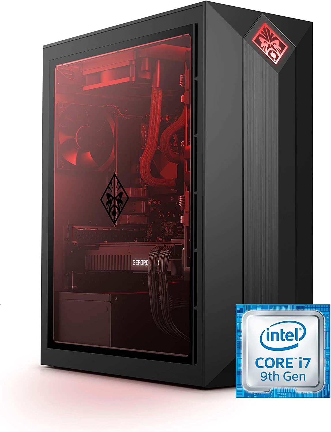 OMEN by HP Obelisk Gaming Desktop Computer, Intel Core i7-9700K Processor, NVIDIA GeForce RTX 2080 Super (8 GB), HyperX 16 GB RAM, 512 GB SSD & 1 TB HDD, Windows 10 Home (875-1130, Black)