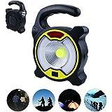 Yokunat Portátil LED Camping Linterna Luz de tienda de campaña para senderismo escalada camping con 4 modos de luz (negro)