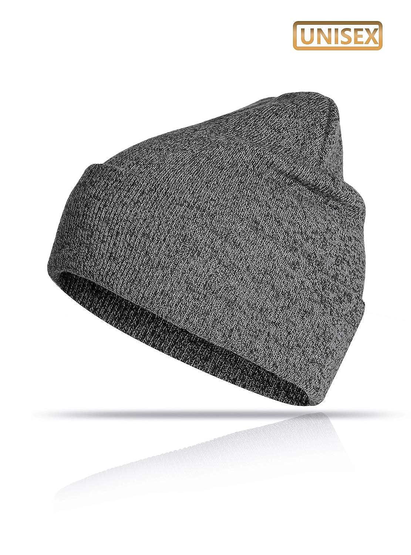TRENDOUX Beanie Hat Winter Warm Knit Hats Cold Weather Skull Cap for Men Women