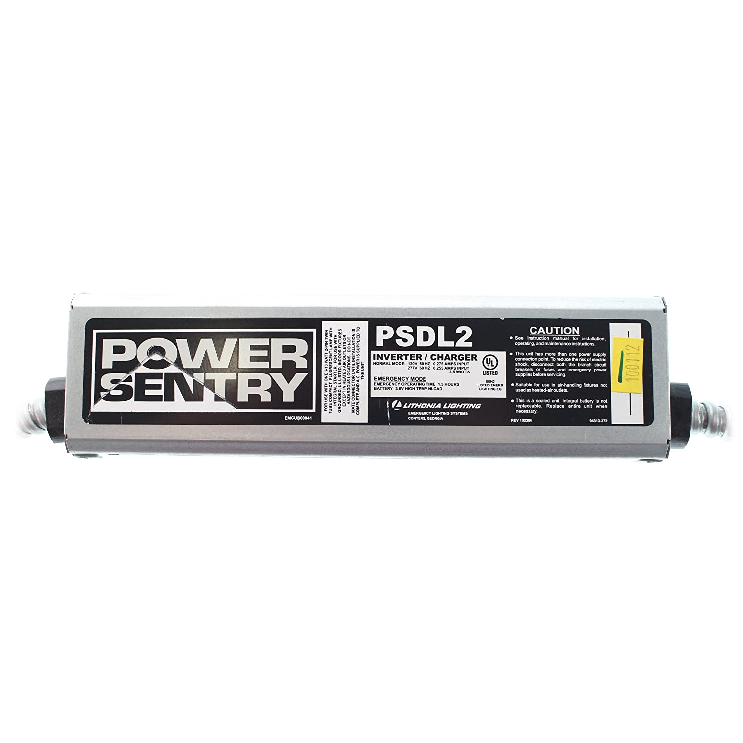 Power Sentry Psdl2 Fluorescent Emergency Ballast Battery Pack 120 Electrocution After Installing Unsafe Temporary Connection 277v