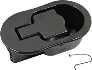 "Reliable Recliner Replacement Parts HANDLE COMES WITH CABLE HOOK Sturdy Large Oval Black Solid Aluminum Metal Pull Recliner Handle 4-3/8"" by 2-5/8"" fits Ashley and Other Manufacturer Brands."