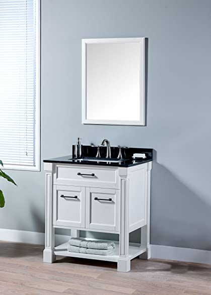 MAYKKE Delilah 30 Inch Bathroom Vanity Set in Birch Wood White ... on 30 inch vanity mirror, 30 inch bathroom vanity cottage style, 30 inch bathroom vanity set, 30 inch bathroom vanity espresso, 30 inch single bathroom vanities, 30 inch bathroom vanities with matching cabinet, 30 inch bathroom vanity modern, 30 bathroom vanity cottage white, 30 inch bathroom vanity cabinet, 30 inch bathroom vanity with bottom drawer, 30 inch vanity countertops, 30 inch bathroom vanity combo, lowe's bathroom vanities white, 30 inch bathroom vanities lowe's, 30 inch single sink vanities, 24 bathroom vanity with top in white,