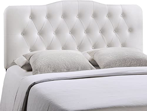 Modway Annabel Tufted Button Faux Leather Upholstered Queen Headboard
