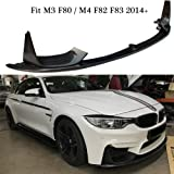 M performance style carbon fiber front lip splitter canards spoiler for BMW M3 F80 & M4