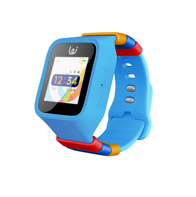 Amazon.com: POMO Waffle Smart Watch GPS Locator for Kids (Blue) with ...