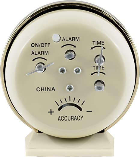 KF/_ EP/_ Retro Classic Double Bell Mechanical Keywound Alarm Clock for Home Off