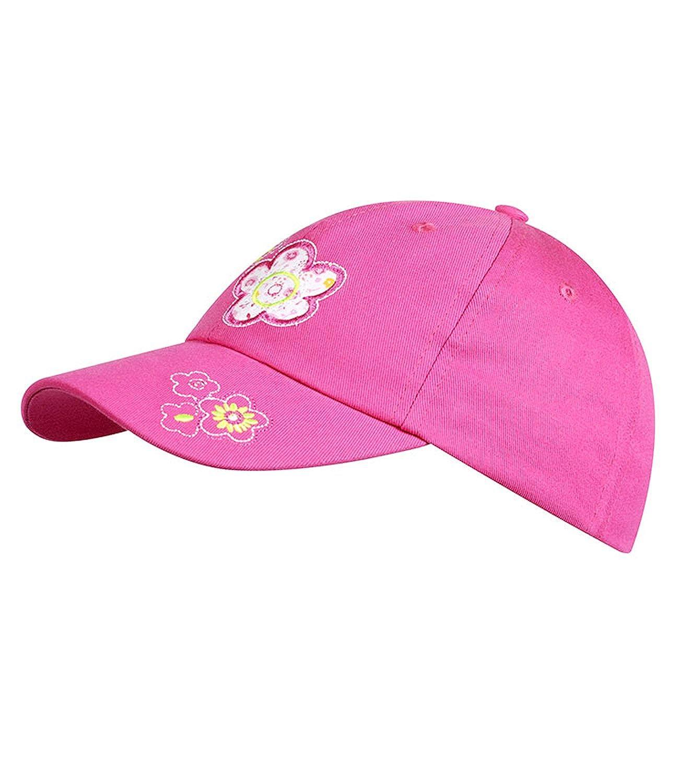 EveryHead Fiebig Basecap für Kinder Kinderbasecap Mädchenbaseballcap Sommercap Kappe Streetwear im Trendigen Design mit Blumen (FI-85382-S16-MA2) inkl Hutfibel