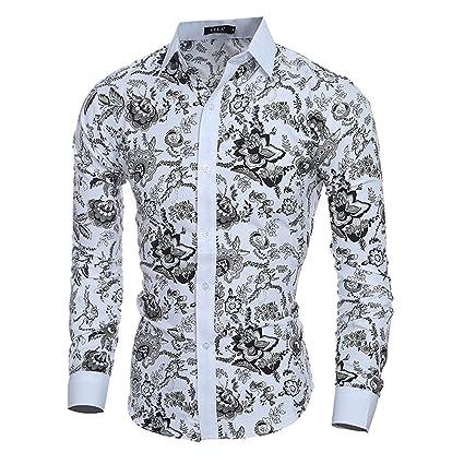 Domybest - Camisa con Diseño de Flores