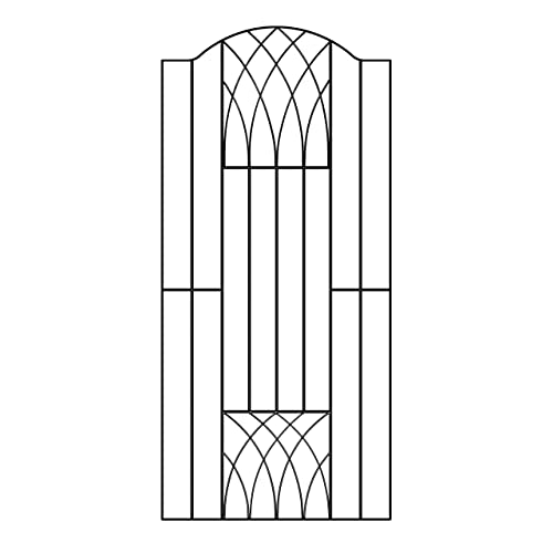 Verona Modern Tall Garden Side Gate 920 990mm GAP X 1798mm High Wrought Iron  Metal