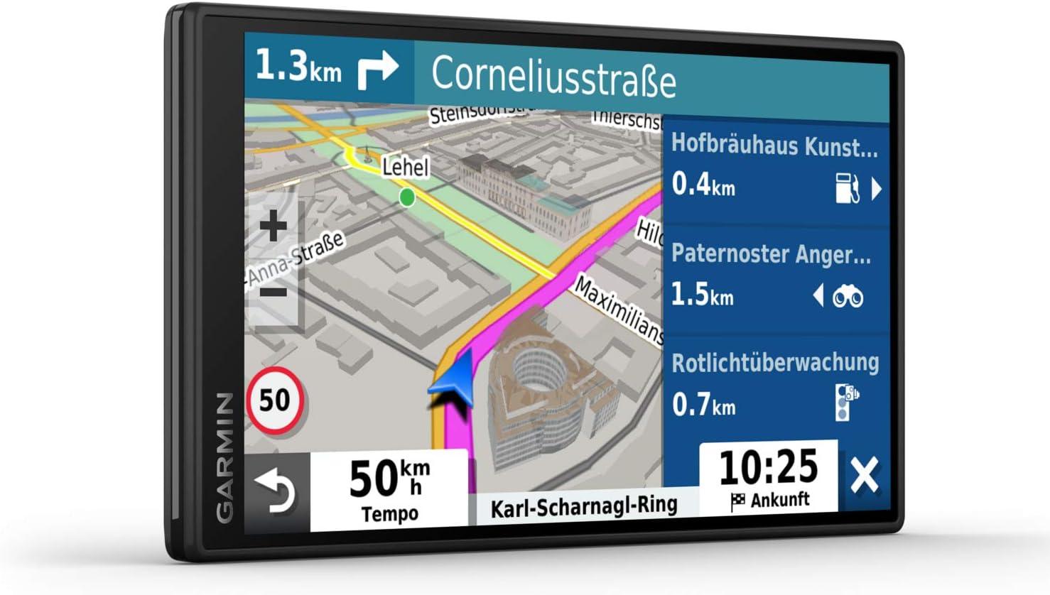 Garmin Drivesmart 55 Mt D Eu Navi Rahmenloses Touch Display 3d Navigationskarten Und Live Traffic Navigation