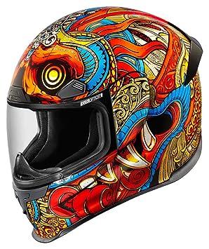 Icono fuselaje Pro Barong naranja/Multi casco de moto
