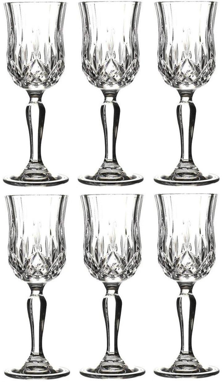 Rcr Opera Set of 6 Liquor Goblets 6 Cl Crystal Glass