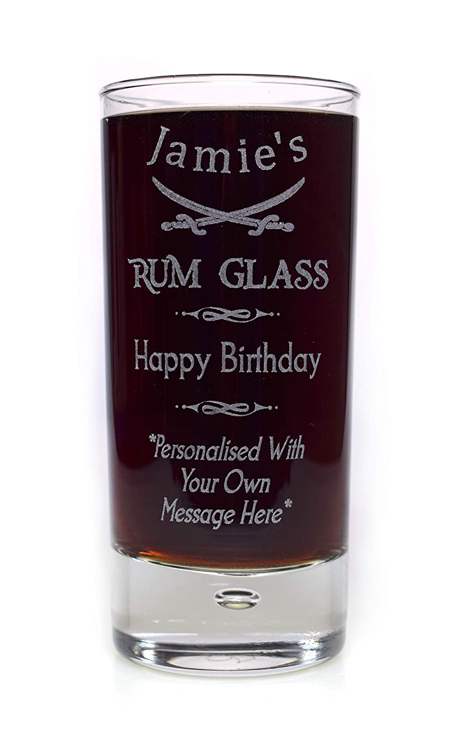 Engraved/Personalised SPECIAL OCCASION RUM HighBall Glass Gift For Mum/Dad/Girls/Boys/Men/Ladies/Women/18th/21st/30th/40th/50th/60th/65th/70th/Birthday/Christmas/Fathers Day/Best Man/Bridesmaid/Usher/Wedding/Graduation/Daughter/Son Cr8 A Gift