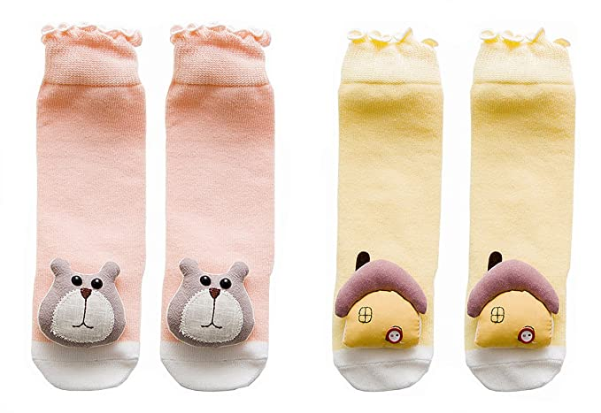 6a0d81a08 EIAY Shop Infant Cotton Socks Baby Knee High Stockings Cute Cartoon Animals  for 1-3