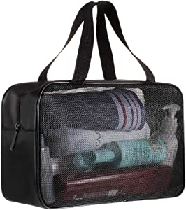 MUIFA Shower Caddy Bag Organizer Portable Mesh Shower Tote Caddy for Bathroom College Dorm Camp Gym Camping Toiletry Bath for Kids Men Women Guys - Quick Dry