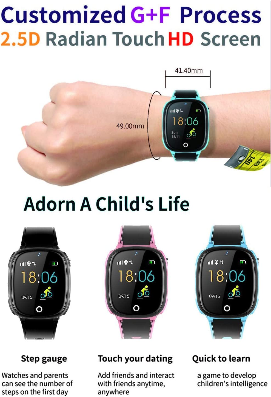 B&H-ERX 2G Intelligent Montre téléphone, GPS Tracker Smartwatch étanche pour Garçons Filles Enfants SOS Tactile Caméra écran d'appel bidirectionnel pour 3-12 Ans,Bleu Blue