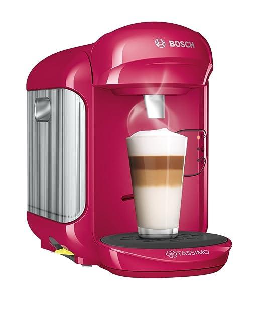 Bosch TAS1403 Tassimo Vivy 2 (color rojo) + Pack café 5 paquetes (80 cápsulas) Tassimo Marcilla Café con Leche