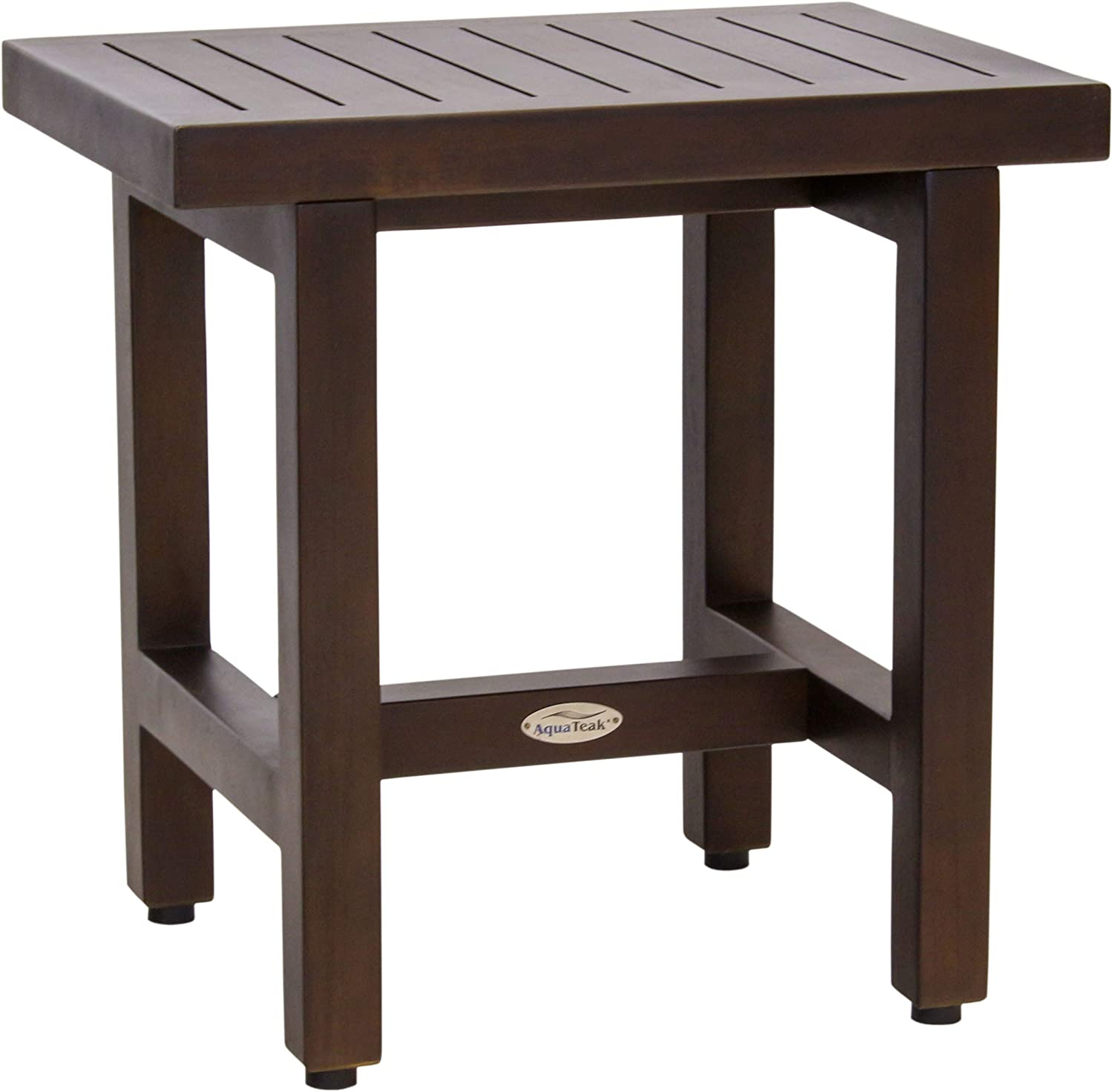"AquaTeak Patented 18"" Spa Lotus Mocha Teak Shower Bench"