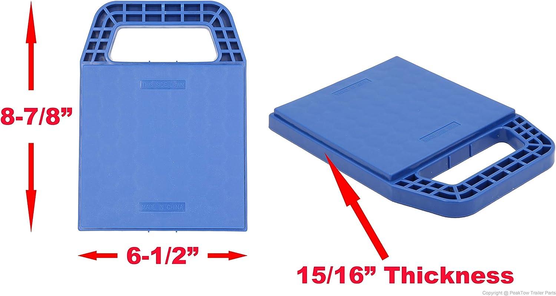 PEAKTOW PTR0005 Blue RV Stabilizer Jack Pad 4PK