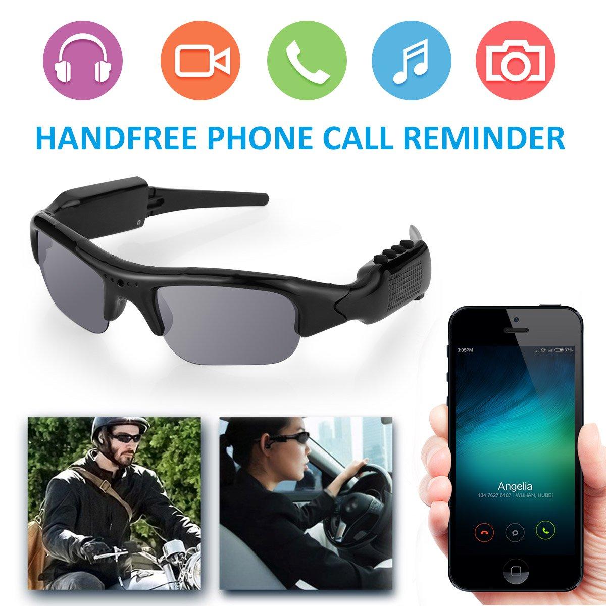 Diggro Gafas de sol de la cámara de grabación de Bluetooth 4.0 1080P HD Video Recorder y Fotografía Gafas Polarizadas Gafas Protectoras de Apoyo Micro 32GB ...