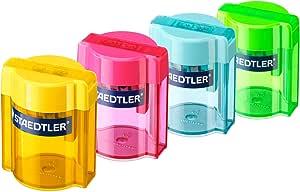 Staedtler 513 001. Afilalápices doble de colores con depósito transparente. 1 sacapuntas doble.: Amazon.es: Oficina y papelería