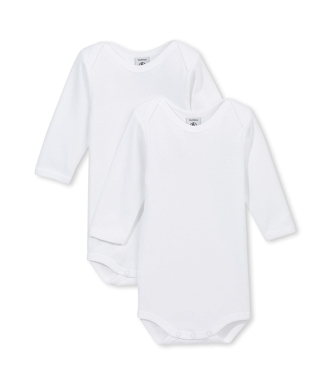 Amazon.com  Petit Bateau Unisex-Baby Newborn Long Sleeve 2 Pack Bodysuits   Infant And Toddler Bodysuits  Clothing bea678399