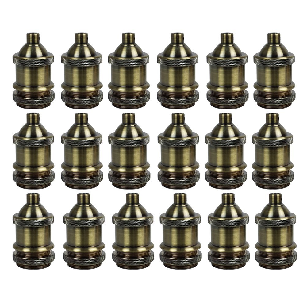 AAF Vintage Style Light Socket Antique Bronze Lamp Holder E26 / E27, Pack Of 18 by AAF