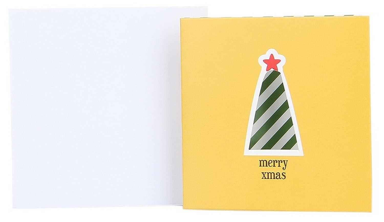 EOZY-Pieghevole Natale Biglietto d'Auguri Christmas in Carta Bianco