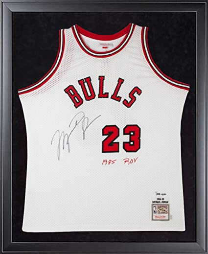 19f873c9e28951 MICHAEL JORDAN Signed 1985 ROY Rookie M N Authentic Framed Jersey LE of 223  ...