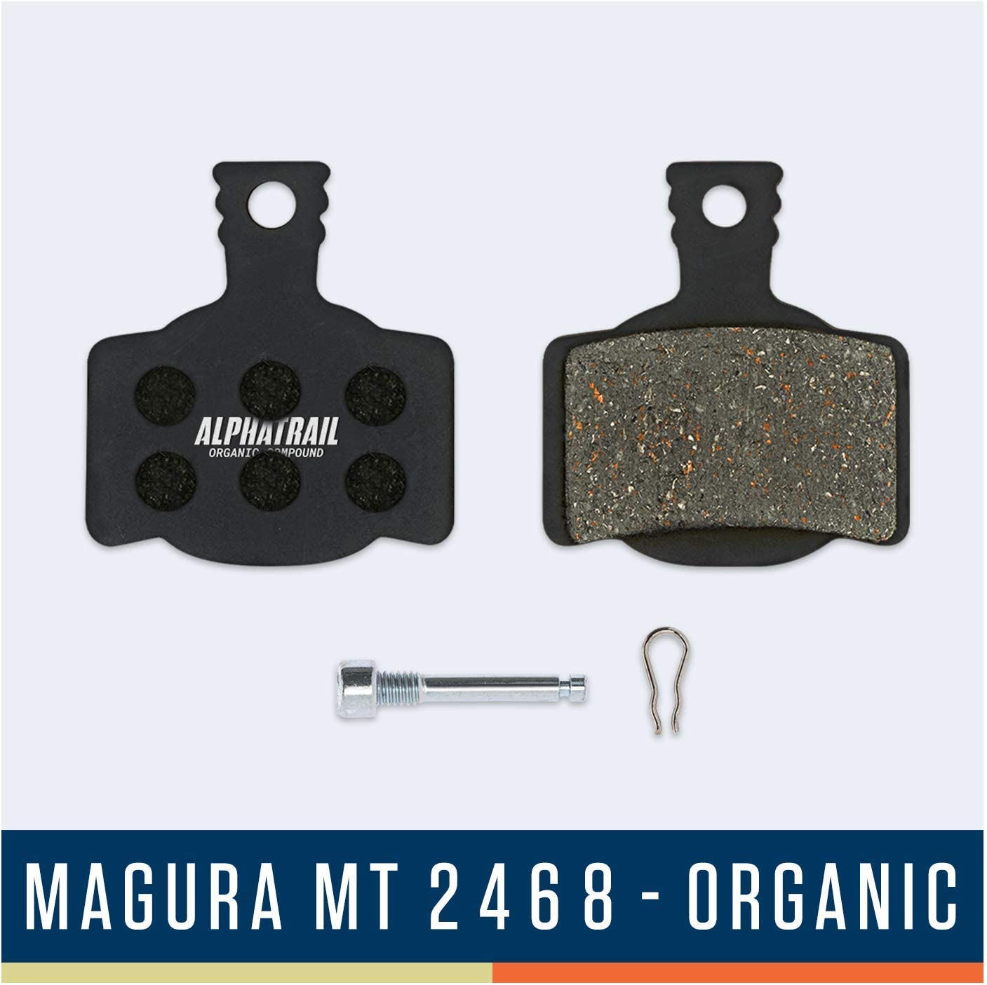 Alphatrail Plaquettes de Frein Magura Typ 7 MT2-8 I Organique /& Fritt/é VTT Plaquette de Frein avec Un Kilom/étrage /élev/é I 100/% Parfait pour Magura MT2 MT4 MT6 MT8 MTS