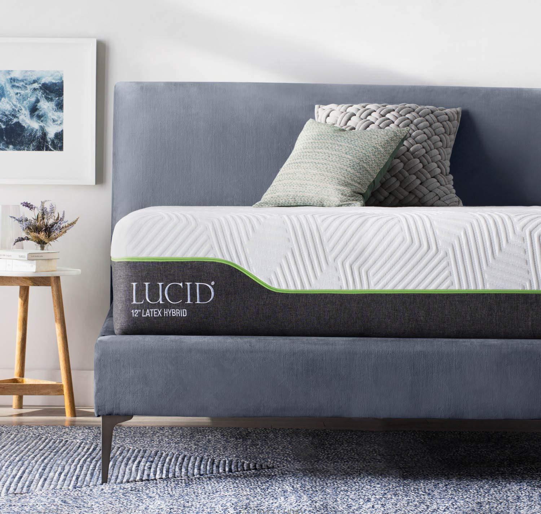 Lucid 12 Inch Queen Latex Hybrid Mattress Memory Foam Responsive