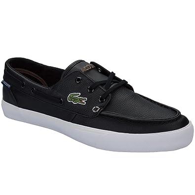76d553ec2e11 Lacoste Mens Mens Keel SEP 2 Boat Shoes in Black - UK 10  Amazon.co ...