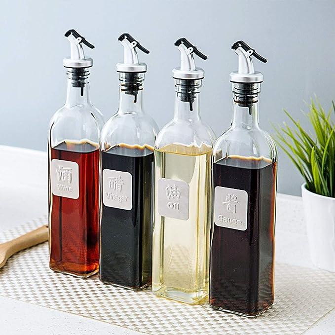 Schwarz zanasta Flaschen Ausgie/ßer f/ür /Öl und Spirituosen mit Dichtung