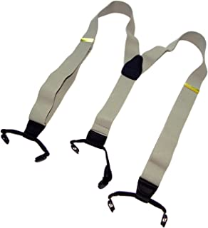 """product image for Holdup Suspender Company's Silver Fox Grey Suspenders in Dual Clip Double-ups Style with USA made 1 1/2"""" wide straps and Patented No-slip Clips"""
