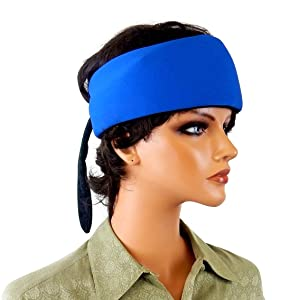Cooling Head/Neck Wrap - Bandana with Freezable Gel Pack Insert, Red or Blue Shell.