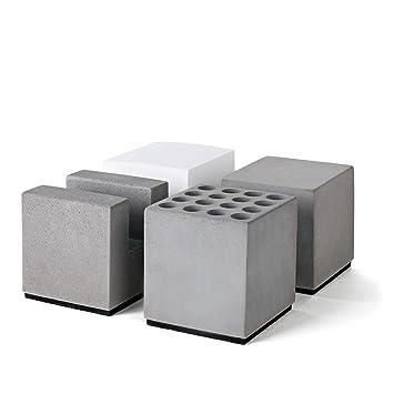 Stiftek/öcher Visitenkarten-Aufsteller B/üroklammernspender magnetisch Ordnungssystem f/ür den Schreibtisch Zettelblock aus Papier