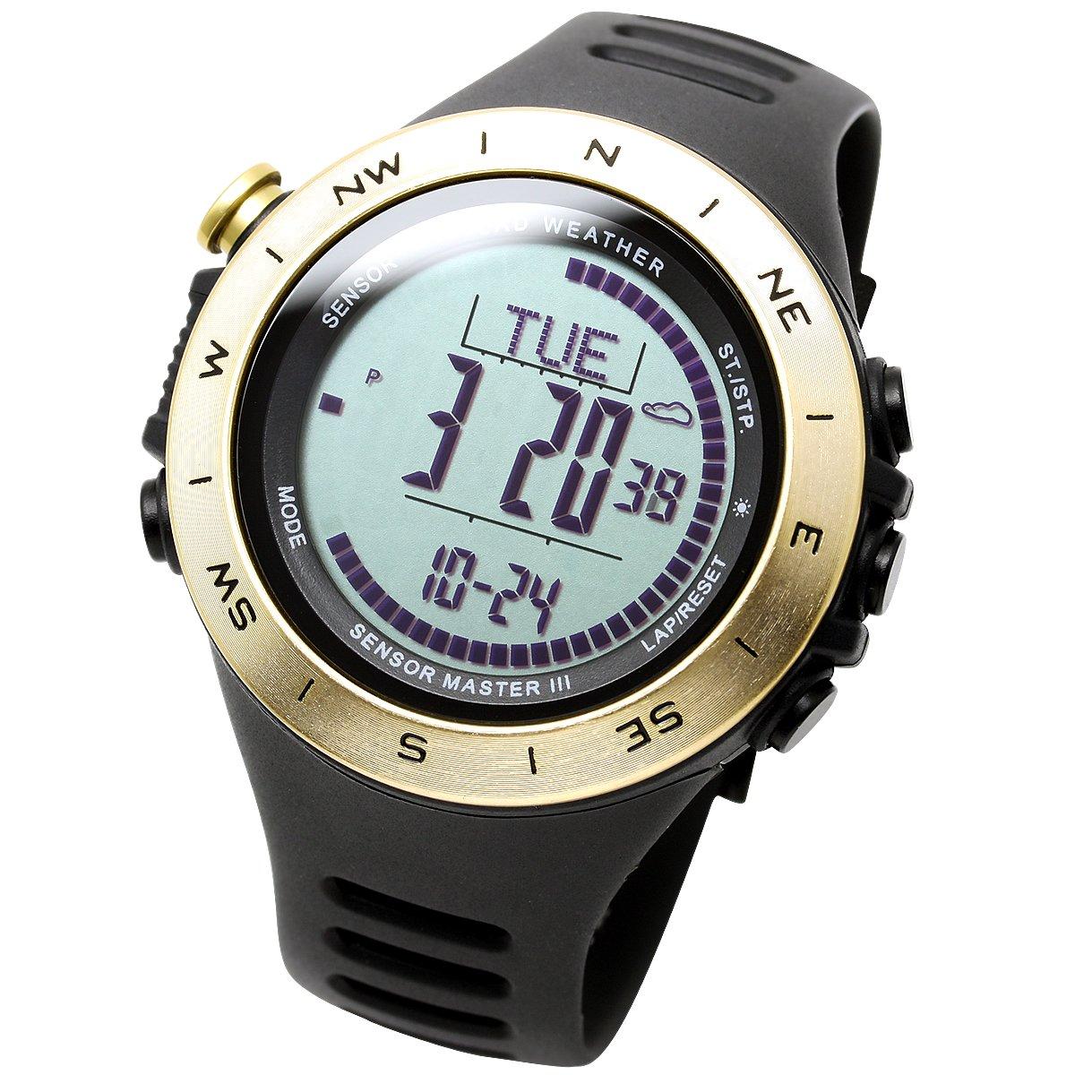 [Lad Weather] Reloj Ultra multifonctionnelle altímetro previsión metereológica Distancia/Velocidad/Paso/calorías