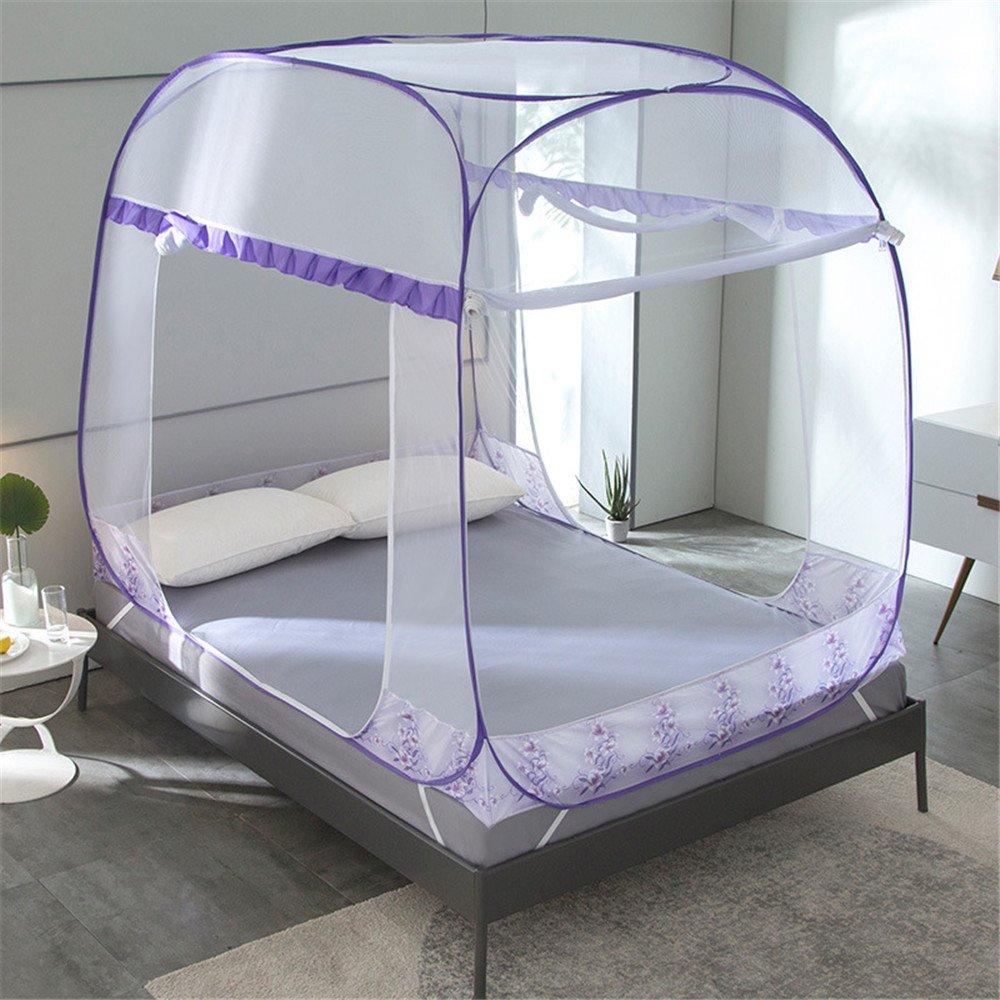 Moskitonetz Moskitonetz Mongolia Booster Space verbessert Door Moskitonetze Three Door verbessert Mosquito Proof Dome Reißverschluss ohne Moskitonetze im Schlafzimmer installiert Baldachin ( Größe   1.82.0m ) a4a0c7