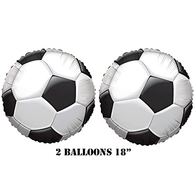 "Kaleidoscope Soccer Balloons 18"" (2 Balloons): Toys & Games"