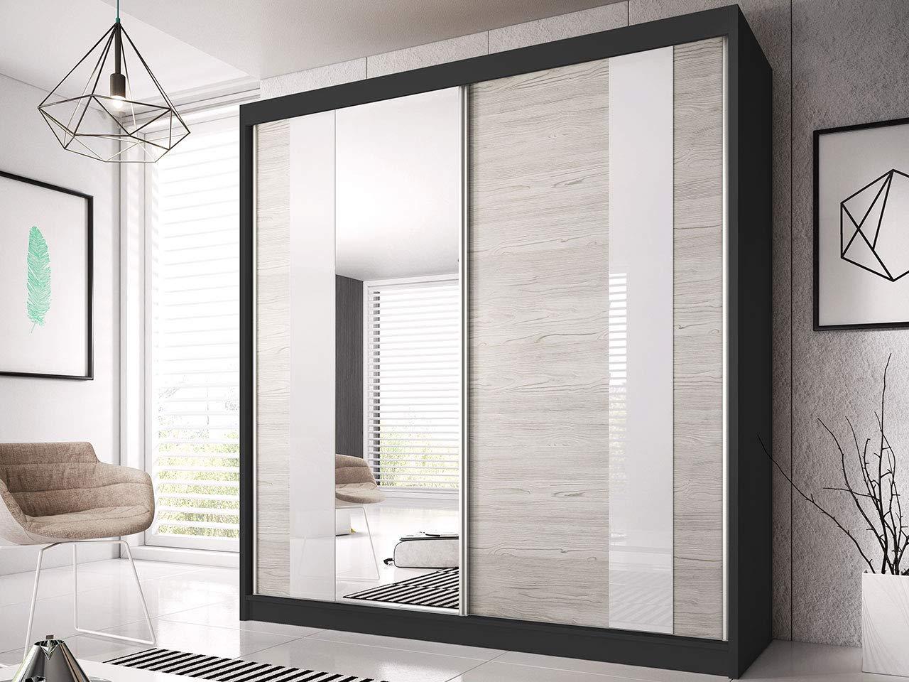 Wohnzimmerschrank Schiebeturenschrank Modern Design Weiss Schwarz