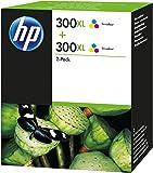 HP 300XL 2-pack High Yield tri-color Original Ink Cartridges (D8J44AE)