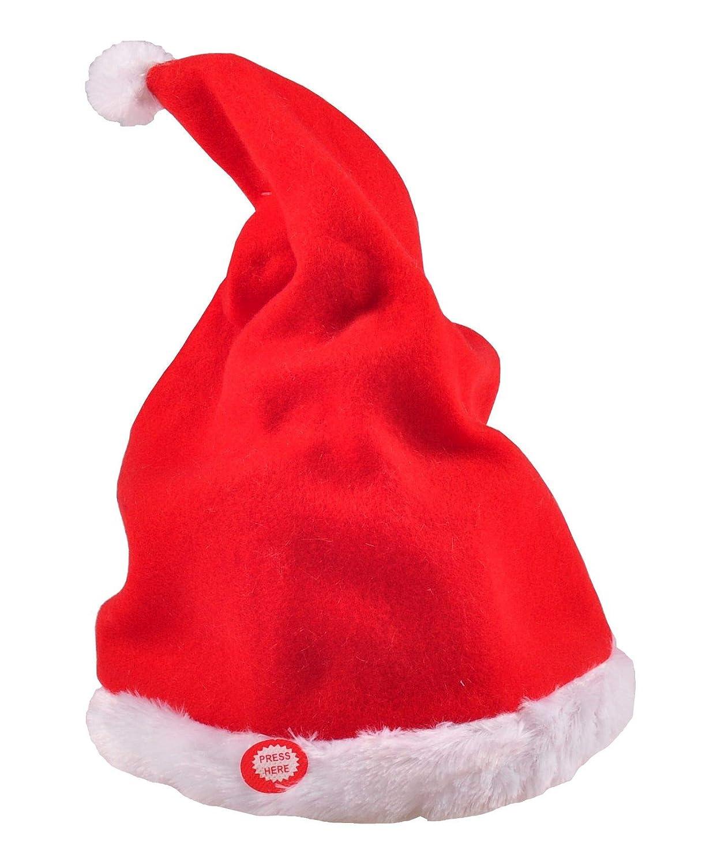 Weihnachtsmütze singt und tanzt Nikolausmütze Zipfelmütze Weihnachtsdeko Mütze