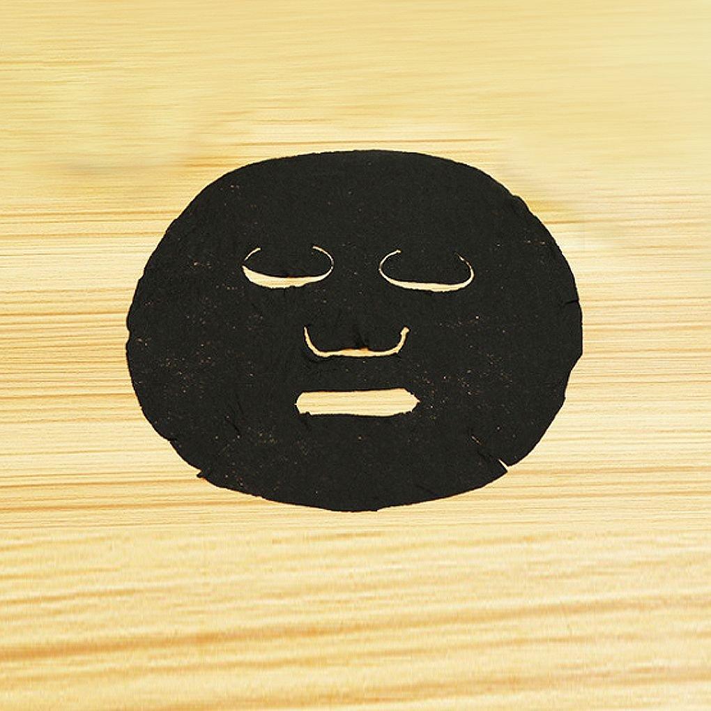 Floridivy no Tejido 30pcs bamb/ú del comprimido Mascarilla desechable Envuelta Tablet Hoja Negro M/áscara para el Bricolaje