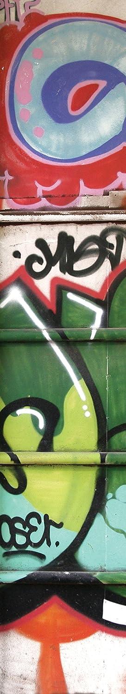 JP London uStrip Lite UCLT9090 Prepasted Mural Chaos Graffiti Garage 8.5-Feet by 1.5-Feet