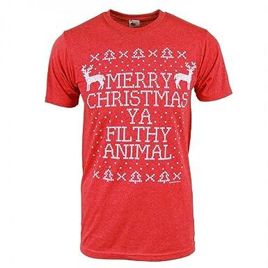 Merry Christmas Ya Filthy Animal Shirt.Amazon Com Mens Home Alone Merry Christmas You Filthy