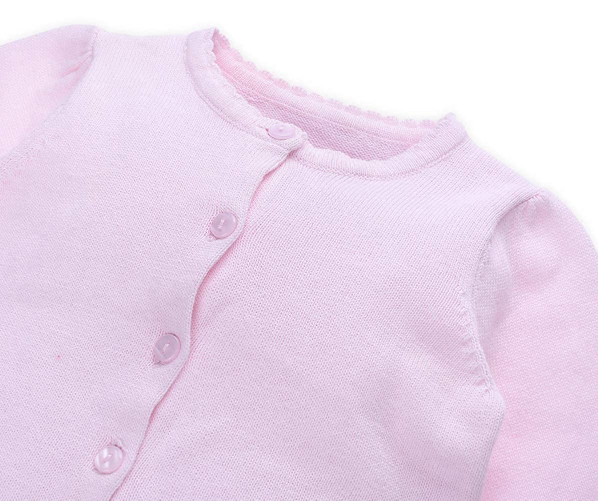 TAIYCYXGAN Baby Infant Girls Princess Cardigan Sweaters Toddlers Knit Sweater Jacket Long Sleeve Knitting Clothes